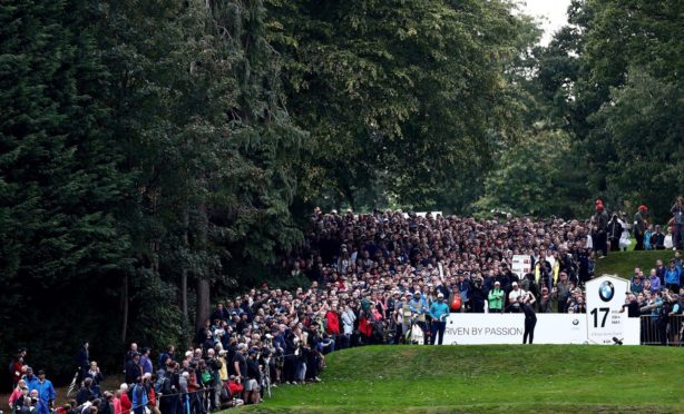 Crowds gathered to watch the BMW PGA Championship at Wentworth in 2019, one of the biggest events on the European Tour.
