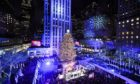 Mandatory Credit: Photo by Andrew H. Walker/Shutterstock (10491696y) Atmosphere 87th Annual Rockefeller Center Christmas Tree Lighting Ceremony, New York, USA - 04 Dec 2019
