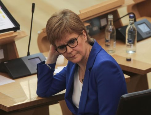 Nicola Sturgeon, MSP First Minister of Scotland Photo by FRASER BREMNER/Daily Mail/POOL/EPA-EFE/Shutterstock