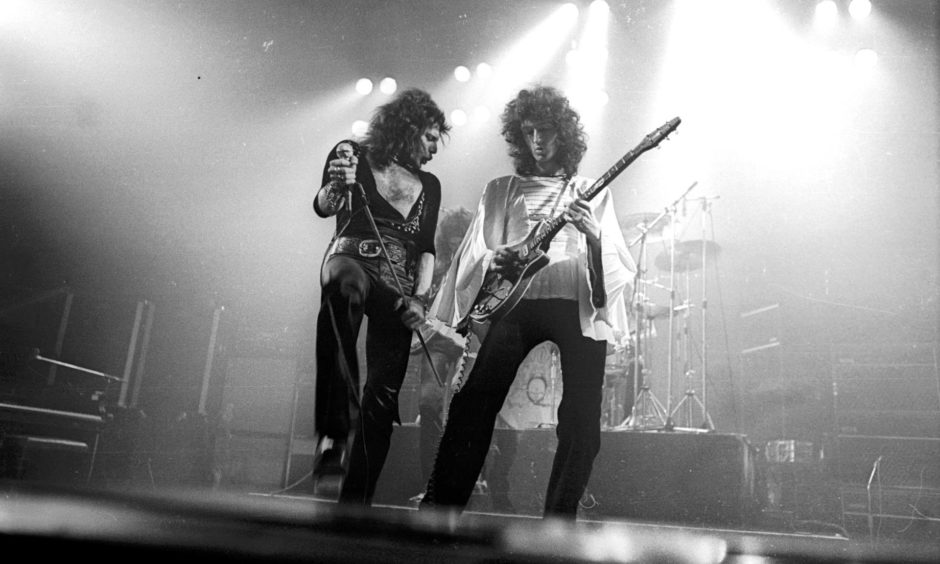 Freddie Mercury and Brian May rocked audiences in the Capital on Queens Night At The Opera tour in 1975.