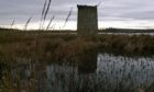 The remains of the windmill pump tower at RSPB's Loch of Strathbeg nature reserve. Pic: Diana Spencer/RSPB Images