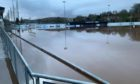 Turriff United's grounds at The Haughs were under water at the weekend after flooding caused by torrential rainfall and overflow from nearby burns.