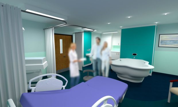 An artist impression of the birthing pool at Dr Gray's Hospital.