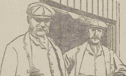 A sketch of Harrow and Tasker before the fatal fight took place.