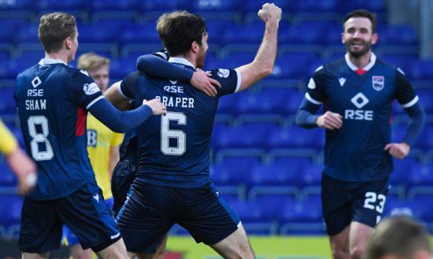 Ross Draper celebrates netting for Ross County.