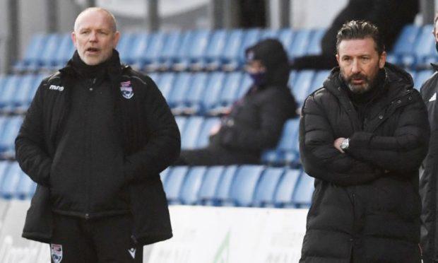 John Hughes, left, and Derek McInnes.