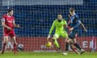 Ross County's Oli Shaw beats Aberdeen's Joe Lewis to make it 3-1. R