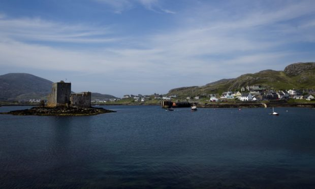 Castlebay on Barra. The number of Covid cases on the island is growing.