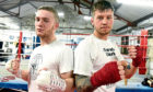 North-east boxers, Billy Stuart, left, and Dean Sutherland. Picture by Jim Irvine