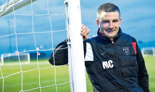 Fraserburgh FC manager Mark Cowie.