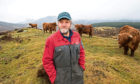 NFUS president elect Martin Kennedy on his farm near Aberfeldy.