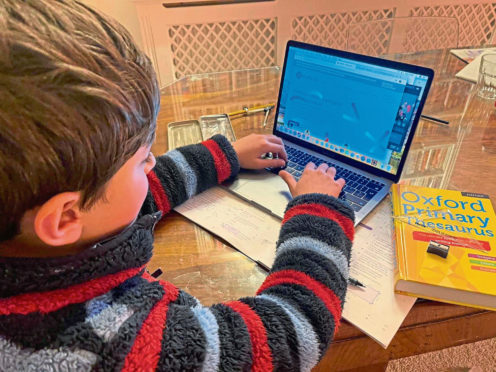 BEST BEHAVIOUR: Learners at Garioch Academy are being urged not to abandon normal classroom habits during home schooling.