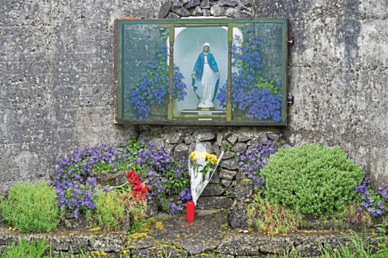 Mandatory Credit: Photo by Aidan Crawley/EPA/Shutterstock (7930604i) A Shrine is Set Up at the Site of a Mass Grave of Up to 800 Children on the Site of the Former Mother and Baby Home in Tuam County Galway in Western Ireland 06 June 2014 the Home was Operated by the Catholic 'Sisters of Bon Secours' Between 1925 and 1961 Media Reports State That the Irish Government Will Launch a Broader Investigation of the Case After Bodies of Children Were Found in a Septic Tank First Bodies Were Found on the Ground Some Four Decades Ago But Were Initially Thought to Be From the 19th Century Famine in Ireland Ireland Tuam Ireland Crime - Jun 2014