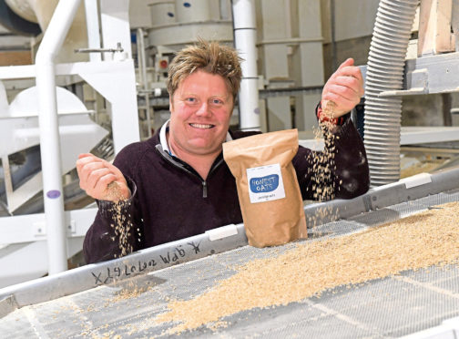 Michael Medlock at the oat-processing plant.