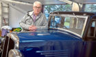 Paul Lawson from Alford with his classic BSA car.