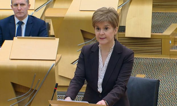 First Minister Nicola Sturgeon said extra money would be issued the hospitality trade this month to help its recovery.