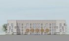 An artistic impression of proposed council housing planned for the former Craighill school site in Kincorth, Aberdeen.