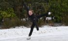 Figure skater Holly Noble on the ice at Hazlehead Park. Picture by Kenny Elrick
