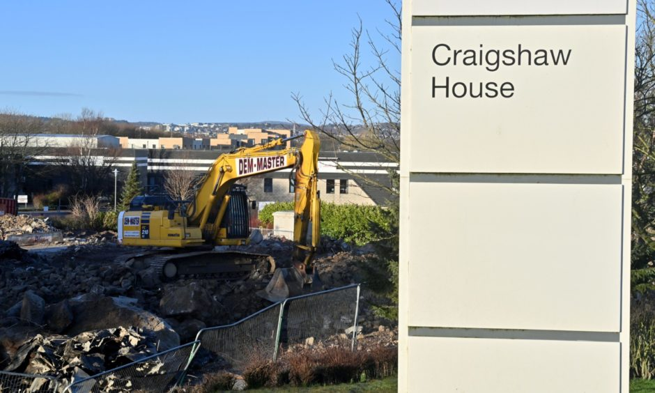 Tim Hortons could be built on the site of Craigshaw House, Tullos, Aberdeen, which has been demolished.
