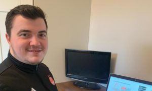 Dean McBain, partner schools coach at Aberdeen FC Community Trust (AFCCT). AFCCT has launched online learning resources for school pupils during lockdown.