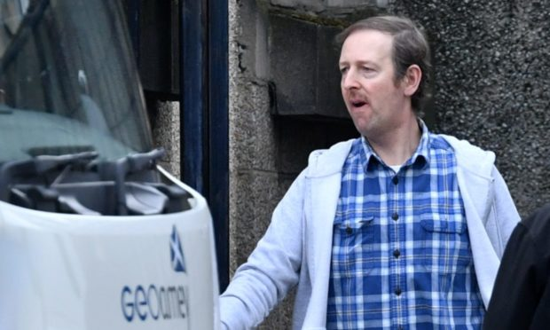 Stewart Murray at Aberdeen Sheriff Court in November 2019. He appeared by video link from HMP Grampian yesterday.