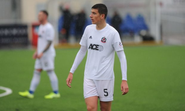 Ross Graham during his time on loan with Cove Rangers.