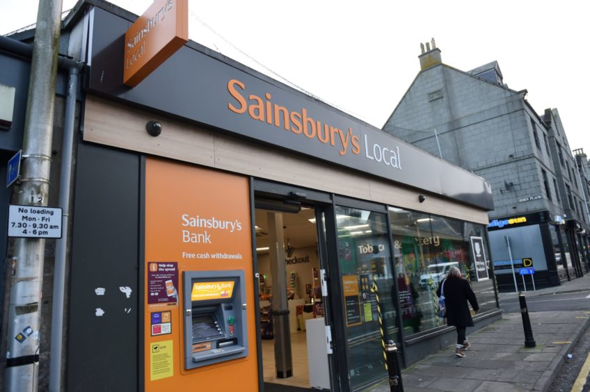 Sainsbury's Local in Rosemount, Aberdeen. Picture by Paul Glendell