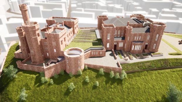 Design plan of Inverness Castle revamp