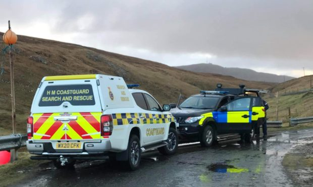 Coastguard teams were joined by the Royal Navy's EOD team from Faslane