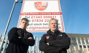 John Little and Andrew Little, proprietors of Elgin Autos, were targeted by the same thieves that hit Hawco.