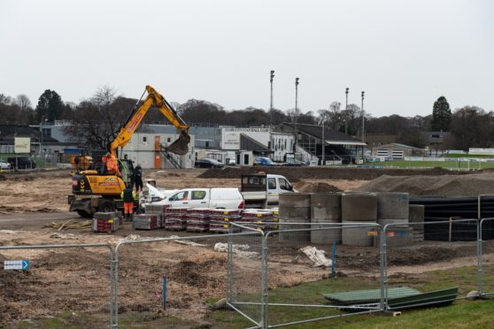Elgin Community Sports Trust were among the beneficiaries of National Lottery funding. The trust is currently developing a new artificial sports pitch. Picture by Jason Hedges.
