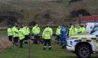 Coastguard teams in Portsoy