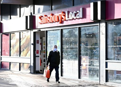 Sainsbury's, Holburn Street, Aberdeen.    Picture by Kami Thomson / DCT Media         12-01-2021`