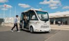 A driverless bus similar to one to be used in an Inverness pilot