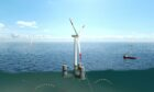 The Star Wind Floater, developed by Olav Olsen and owned by Floating Wind Solutions AS, which will be used for the Falck Renewables/BlueFloat Energy ScotWind application.