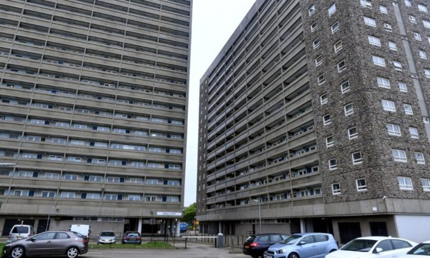 Greig Court, left, and Hutcheon Court, in Aberdeen have been given category A listing.