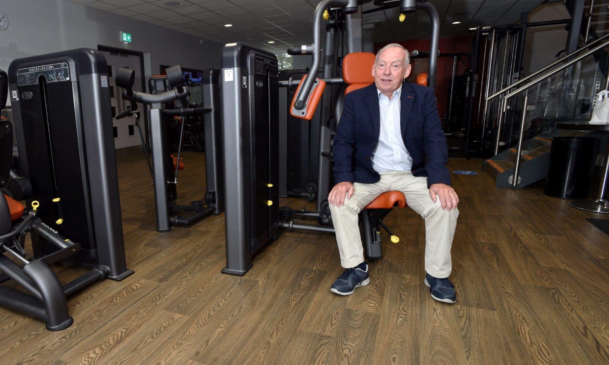Sport Aberdeen Chairman Tony Dawson prepares for the reopening of Get Active @ Jesmond, Bridge of Don, Aberdeen.