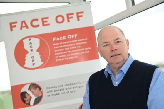 Mike Healy founder of Face Off, a unique system to help children deal with bullying.