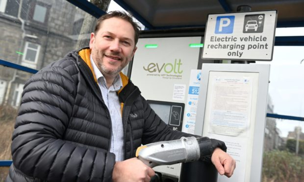 Council co-leader Douglas Lumsden said the local authority knew demand would soar for electric vehicle charging points in the coming decade.