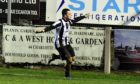Fraserburgh's Scott Barbour celebrates scoring against Banks o' Dee in the second round of the Scottish Cup earlier this year.