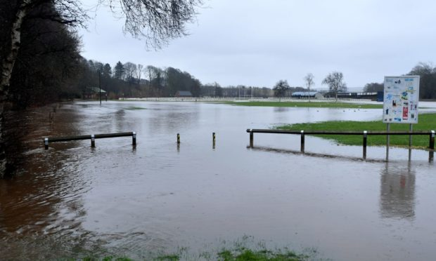 The Turriff showground was affected by flooding last week.