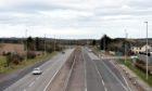 The A92 near, Newtonhill.