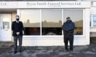 Sam (left) and Brian Smith (right) outside their funeral directory in Banchory.