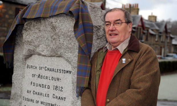 Hugh Fraser during the bicentenary celebrations in Aberlour.