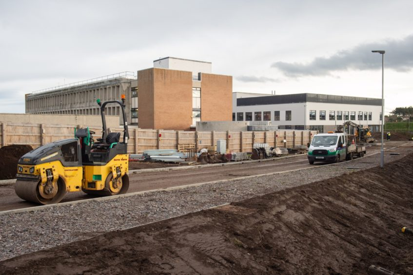 Construction on the new Lossiemouth High School in December.
