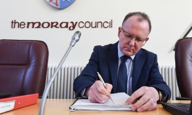 Moray Council chief executive Roddy Burns.