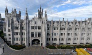Aberdeen City Council offices at Marischal College.