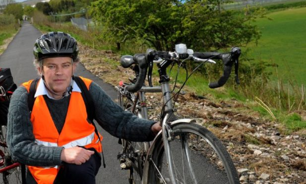 Councillor Martin Ford is calling for improvements to encourage more walking and cycling in Aberdeenshire.