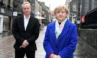 Aberdeen Inspired chief executive Adrian Watson and council co-leader Jenny Laing in Belmont Street.