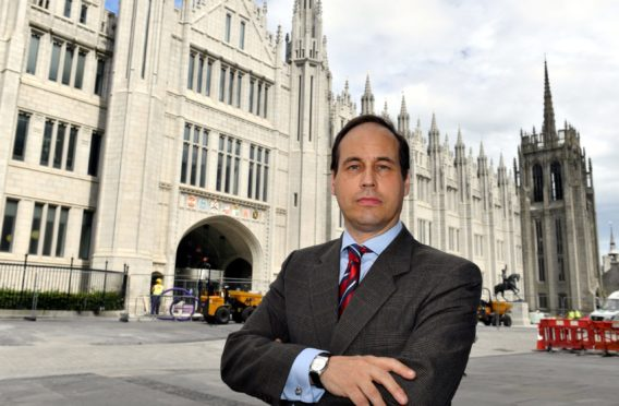 Councillor Martin Greig at Marischal College, Aberdeen.     Picture by Kami Thomson.